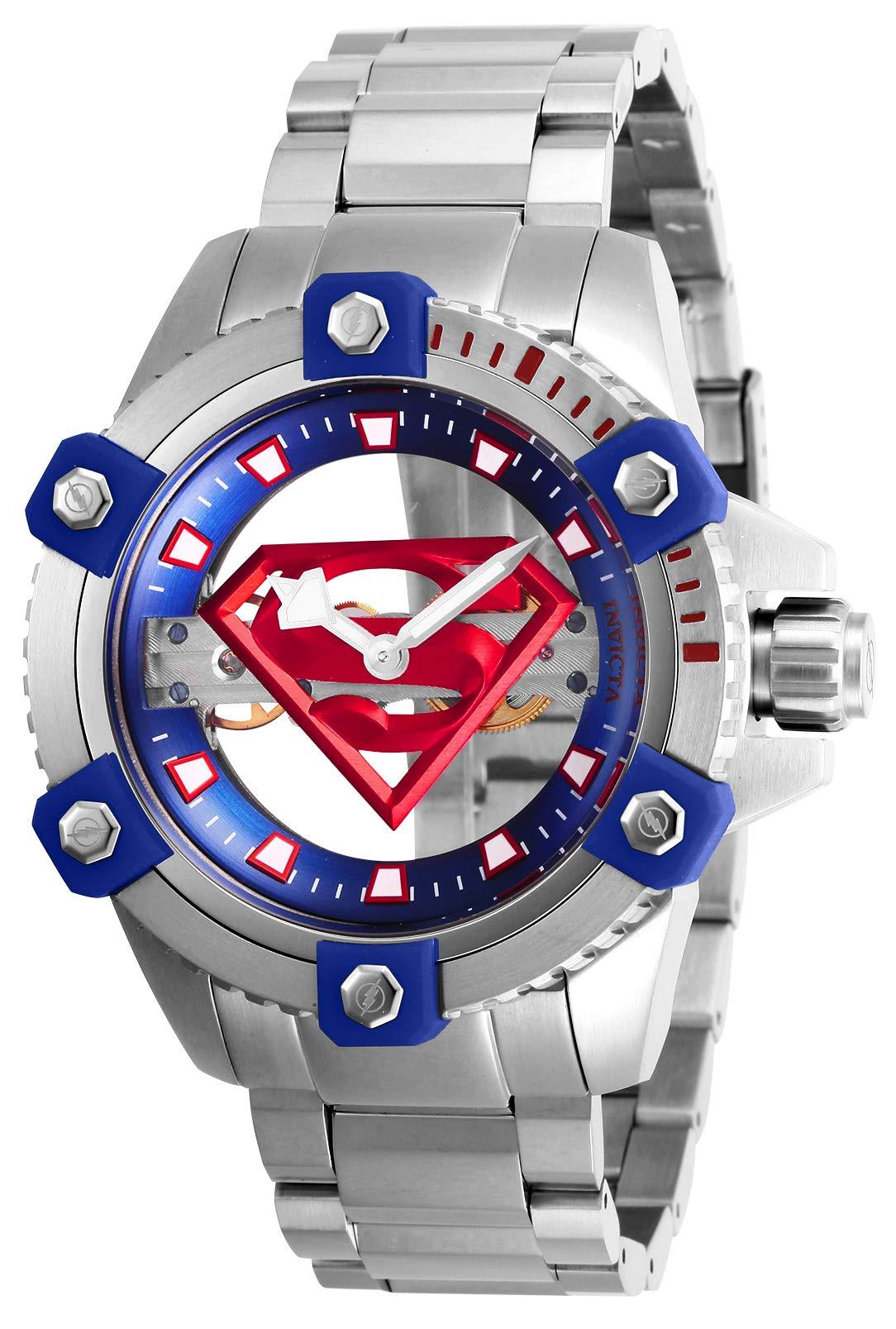 ویکالا · خرید  اصل اورجینال · خرید از آمازون · Invicta Men's DC Comics Mechanical Watch with Stainless Steel Strap, Silver, 24 (Model: 26842) wekala · ویکالا