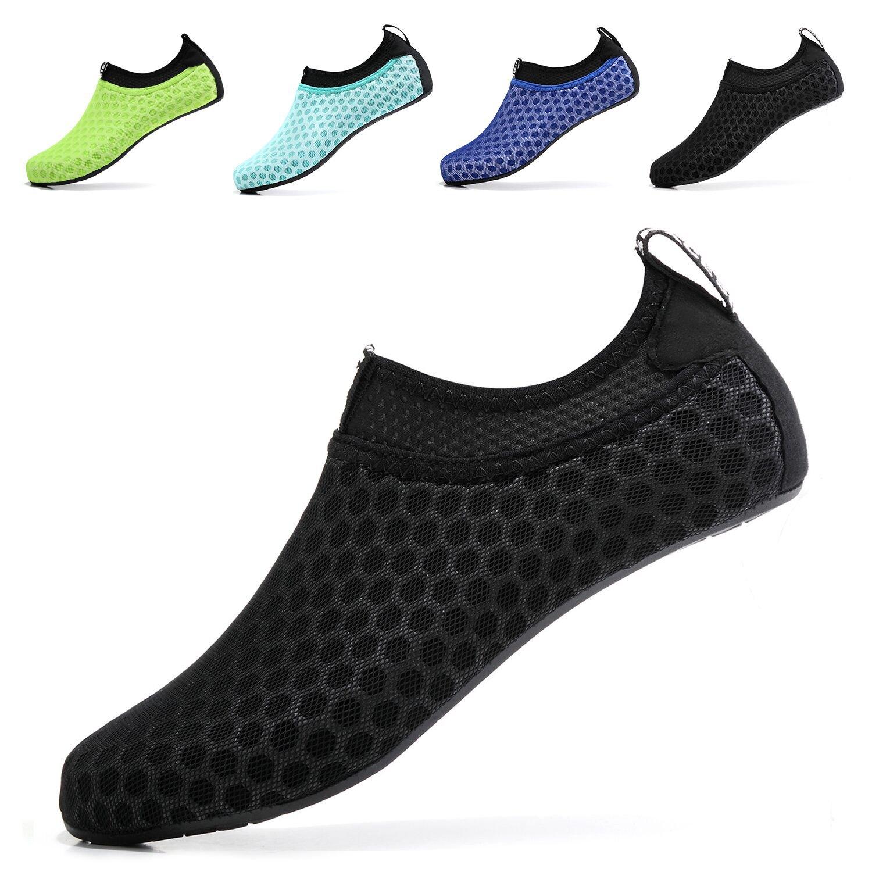 Sixspace Unisex Water Shoes Barefoot Beach Shoes Aqua Socks for Swim Pool Surf Yoga£¬Black 45/46