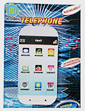BG Telephone Smartphone Sonido Luminoso táctil Juguete: Amazon.es ...