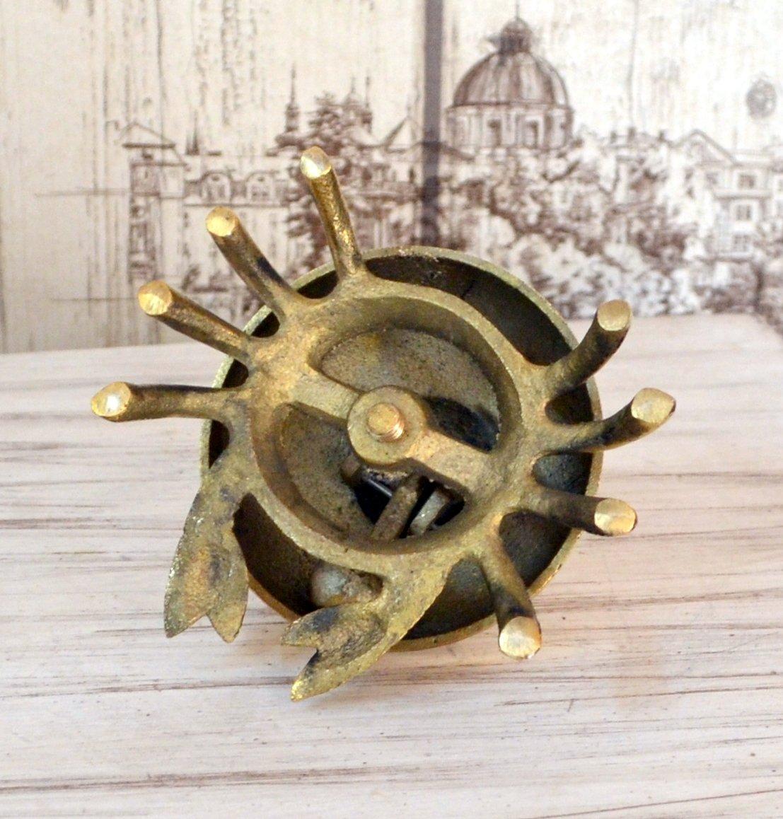 Decor Art International Antique Replica Brass Crab Look Call Bell for Counter Hotel Reception Office Boy