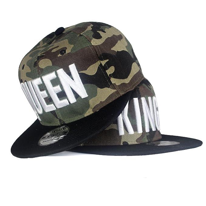 Snapback Gorra Gorro Hip Hop Tapa camuflaje gorra de béisbol Ejército King & Queen King