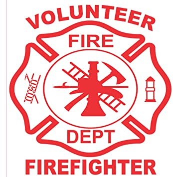Amazoncom Firefighter Sticker X Volunteer Firefighter - Window decals amazon