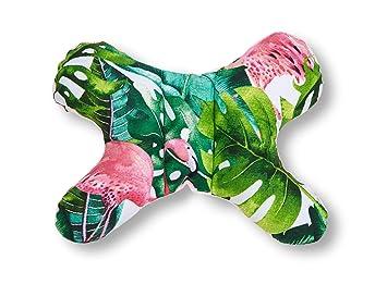 Kuscheldecke JUKKI 5-tlg Baby Minky Erstausstattung set: Babynest 50x70cm Kissen Babydecke Reisebett Nestchen f/ür Babys 2seitig Matratze//Motiv: Exotic Flamingo und rosa Minky Stillkissen