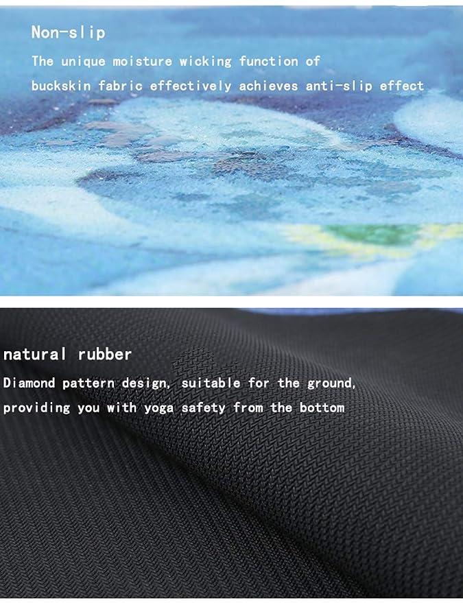 Amazon.com : YXGYJD Pilates Mat Yoga Mat Natural Rubber Buckskin Plush Yoga Mat, Soft, Non-Slip, Sweat-Absorbent, Durable, 178x61 cm - Yoga, Sit-ups, ...