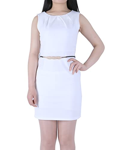 Modeway Women's Wear to Work Business Party Bodycon Sheath Pencil Dress(No Belt)