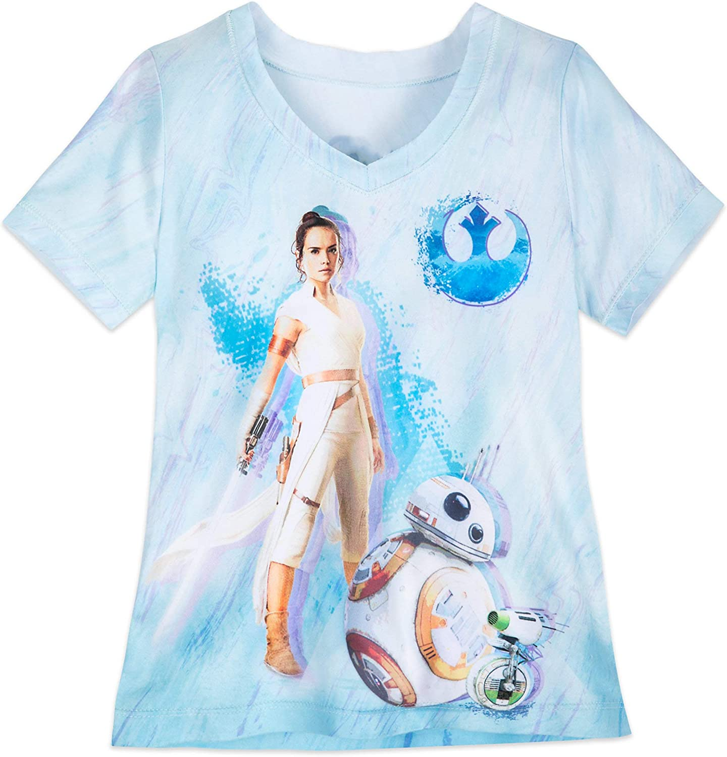 Amazon Com Star Wars Rey V Neck T Shirt For Girls The Rise Of Skywalker Multi Clothing