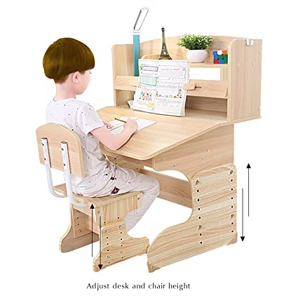 kids study furniture dl furniture wood study desk for children kid table chair easy assemble flip amazoncom