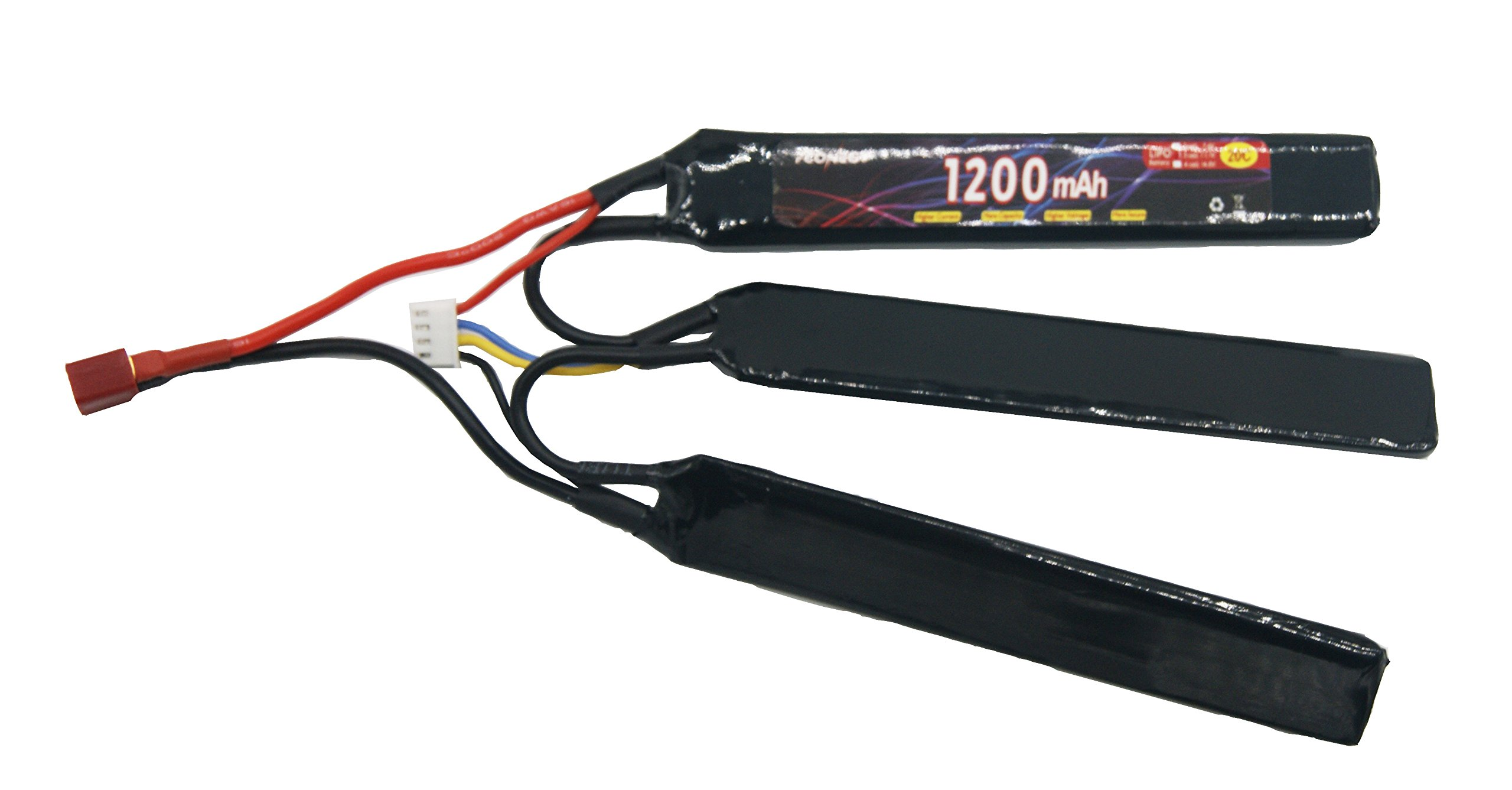 Fconegy 3S 11.1V 1200mAh 20C Lipo Battery Pack with Deans Plug for Airsoft Gun