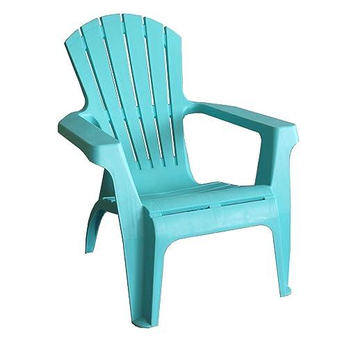 Gartensessel kunststoff  Amazon.de: Adirondack Chair Stapelstuhl Gartenstuhl Kunststoff - Blau