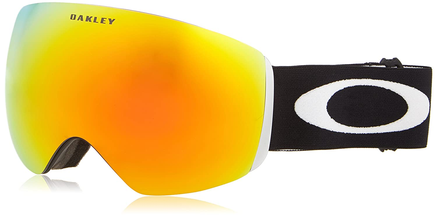 oakley ski goggles flight deck gzve  Oakley Flight Deck Ski Goggles, Matte Black/Fire Irid: Amazonca: Sports &  Outdoors