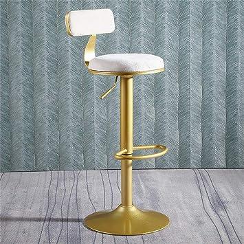 Modern Padded Swivel Velvet Bar Stools Breakfast Kitchen Pub Chair Adjustable