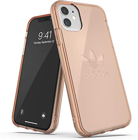 Adidas Originals Kompatibel Mit Iphone 11 Hülle Großes Logo Druck Transparente Schützende Handyhülle Rose Gold Elektronik