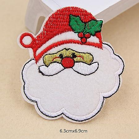 WA Navidad bordado Parche para coser en insignia bolsa ropa tejido para DIY diseño: Amazon.es: Hogar
