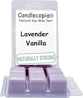 product image for Candlecopia Lavender Vanilla Strongly Scented Hand Poured Vegan Wax Melts, 12 Scented Wax Cubes, 6.4 Ounces in 2 x 6-Packs