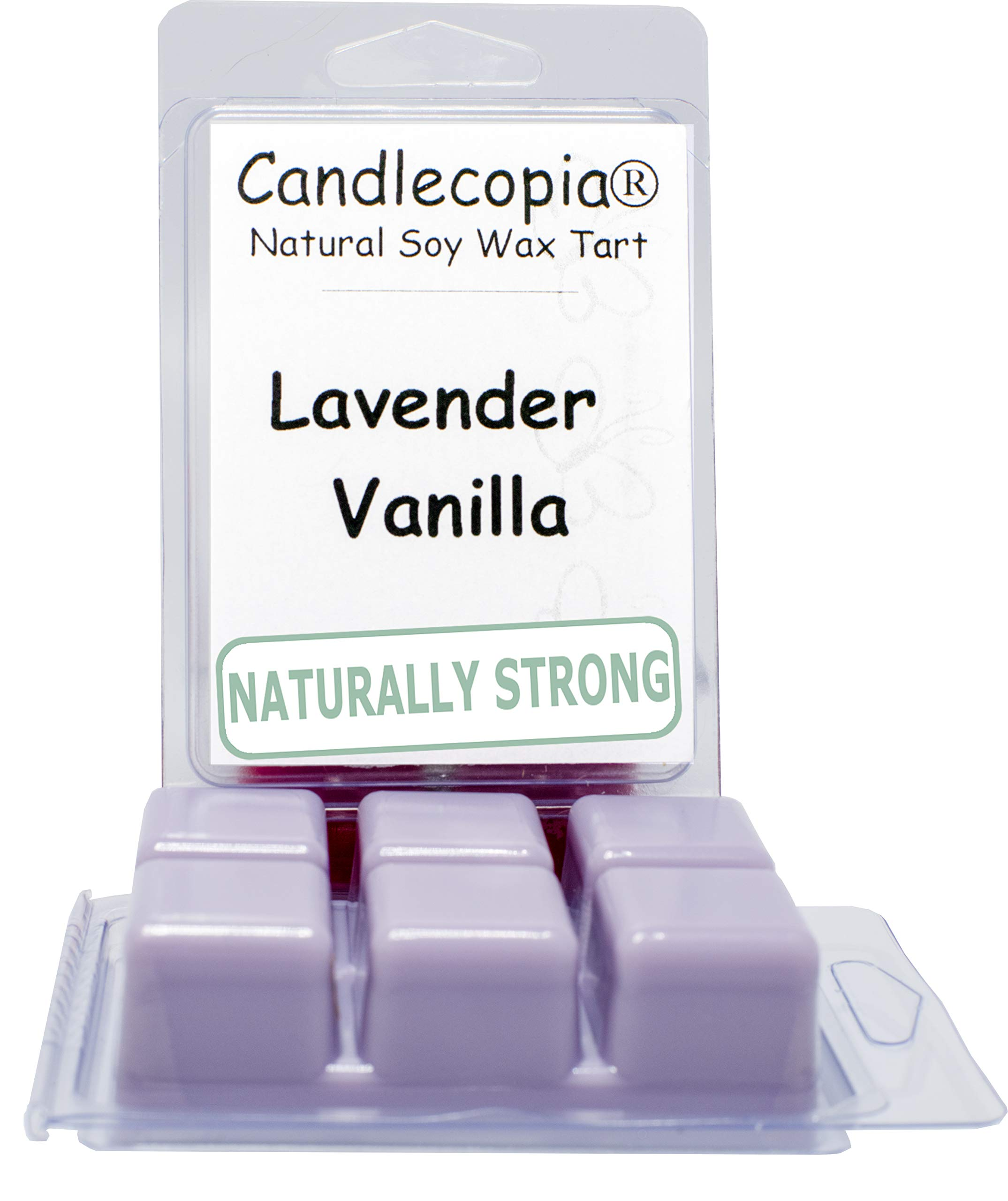 Candlecopia Lavender Vanilla Strongly Scented Hand Poured Vegan Wax Melts, 12 Scented Wax Cubes, 6.4 Ounces in 2 x 6-Packs
