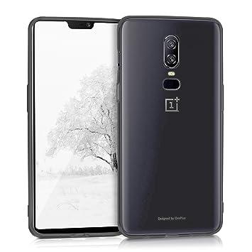 kwmobile Funda para OnePlus 6 - Carcasa Protectora de [TPU] para móvil - Cover [Trasero] en [Negro/Transparente]