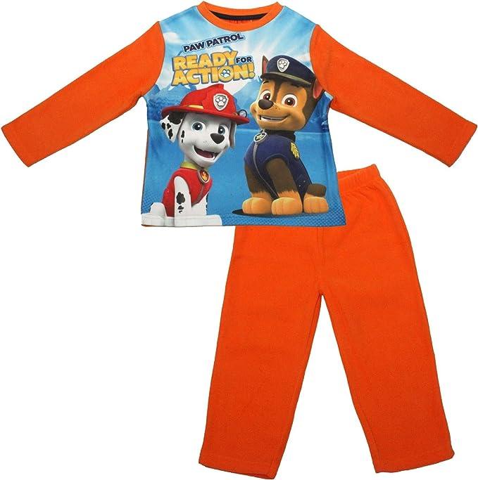 Paw Patrol - Pijama dos piezas - para niño rojo naranja 2-3 Años