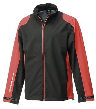 WILSON Rain Jacket Mens Performance Chaqueta Impermeable de Golf, Hombre, Negro/Rojo,