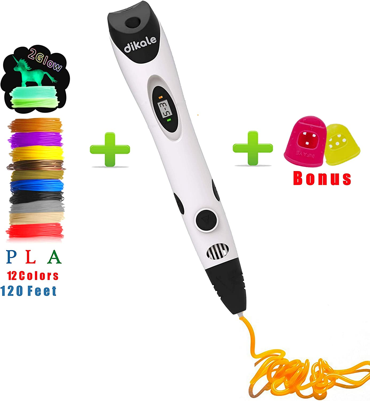 3D DIY Printing Doodle Drawing Pen Craft Modeling LED Display PLA Filament