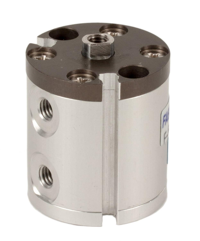 Fabco-Air F-5-X-E Original Pancake Cylinder, Double Acting, Maximum Pressure of 250 PSI, Switch Ready with Magnet, 1/2' Bore Diameter x 5/8' Stroke 1/2 Bore Diameter x 5/8 Stroke FAB   F-5-X-E
