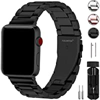 Fullmosa Compatible Apple Watch Strap 42mm and 38mm, 3 Colors Stainless Steel Watch Band for iWatch/Apple Watch Series 4 Series 3 Series 2 Series 1