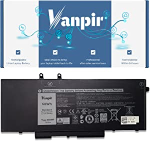 Vanpir 4GVMP Laptop Battery, 7.6V 68Wh Compatible with Dell Latitude 5400 5500 Precision 3540 3550 Inspiron 7590 7591 7791 2-in-1 Series Notebook 1V1XF R8D7N RF7WM 0RF7WM 9JRYT 09JRYT