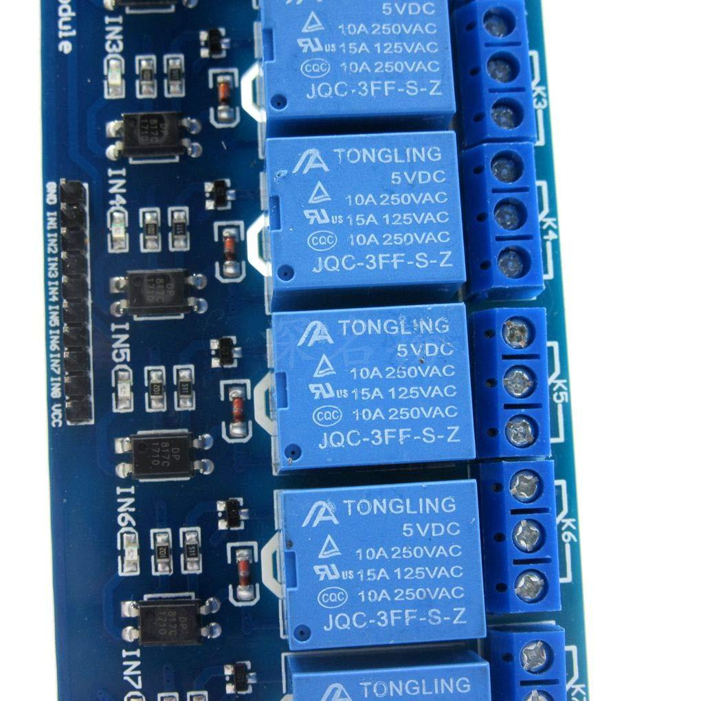 Laileya 5V 1//2//4//8//16 Carte de Relais de Canal Module Optocoupleur Module optocoupleur LED de Remplacement pour Arduino PiC Arm AVR