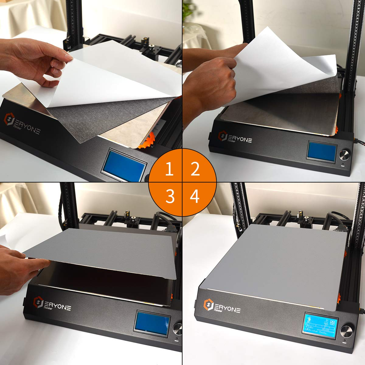 Eryone Actualización 3D Impresora Platforms, Maflex Magnético ...