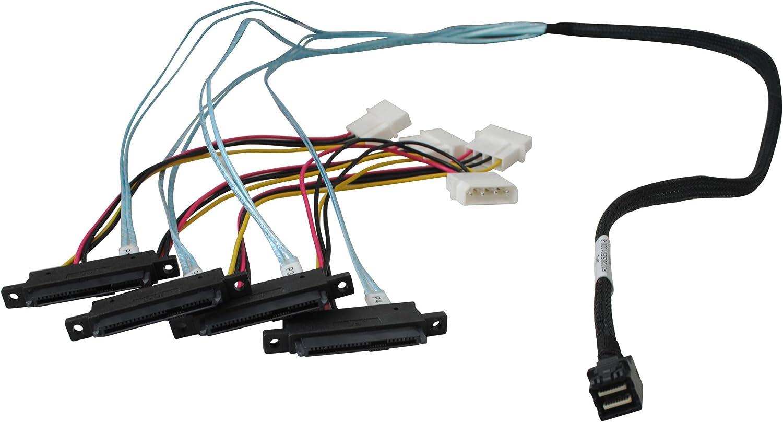 Highpoint Internal Mini-SAS HD to 4X SAS Cable 1Meter 8643-4SAS-1M