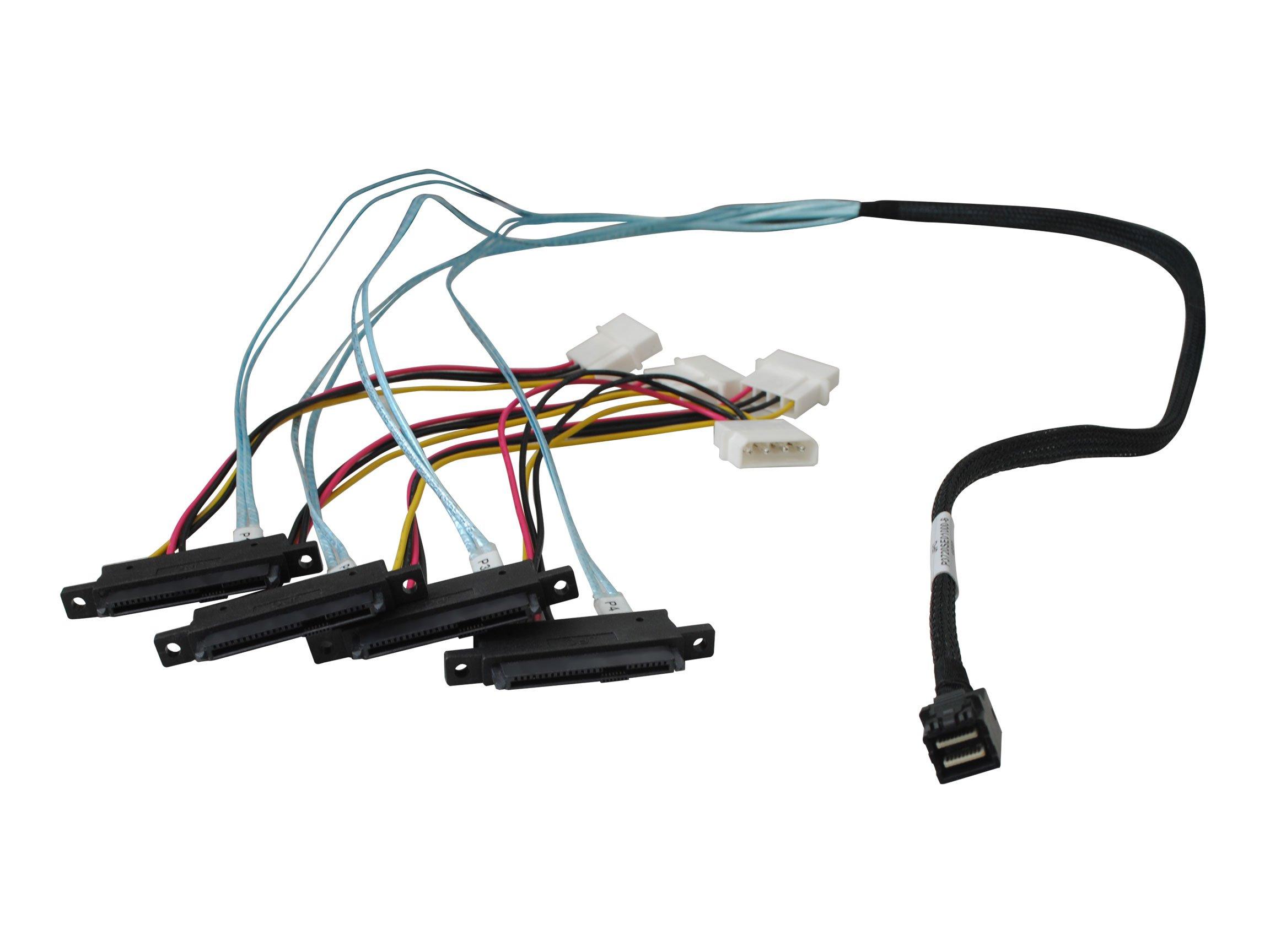 Highpoint Internal Mini-SAS HD to 4X SAS Cable, 1Meter (8643-4SAS-1M)