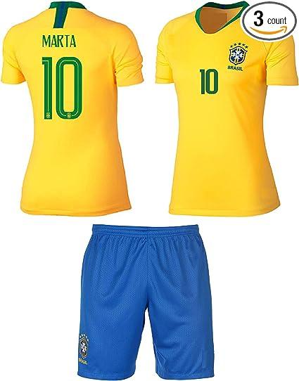 2018-19 Soccer Football Club Short Sleeve Suit Kids Boys Jersey Kit+Socks Messi