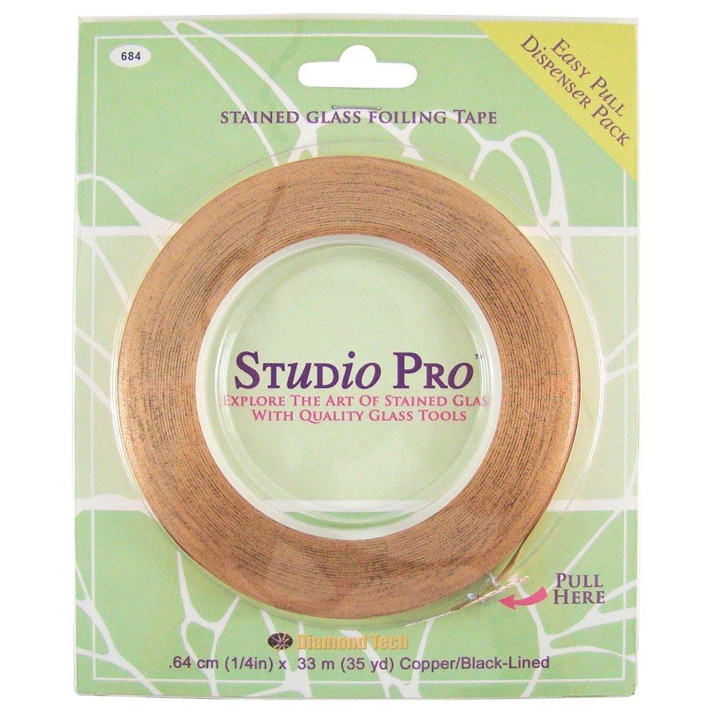 Studio Pro 1/4-Inch Black Lined Copper Foil