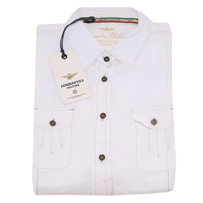 Aeronautica Militare - Camisas - para mujer blanco Medium: Amazon.es: Ropa y accesorios