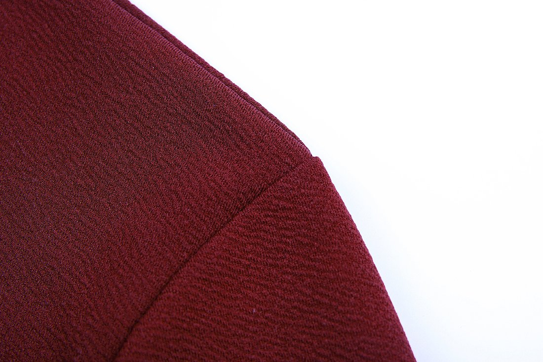sanatty Women's 3/4 Ruched Sleeve Open Front Lightweight Work Office Blazer Jacket,Winered,Small by sanatty (Image #8)