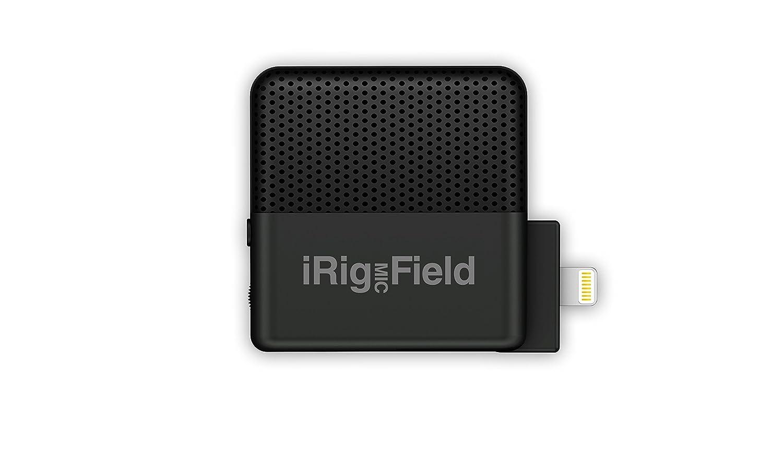 IK Multimedia iRig Mic Field Microfono Ultra-compatto Stereo per iPhone e iPad, Nero IP-IRIG-FIELD-IN BASSO CHITARRA MIXER
