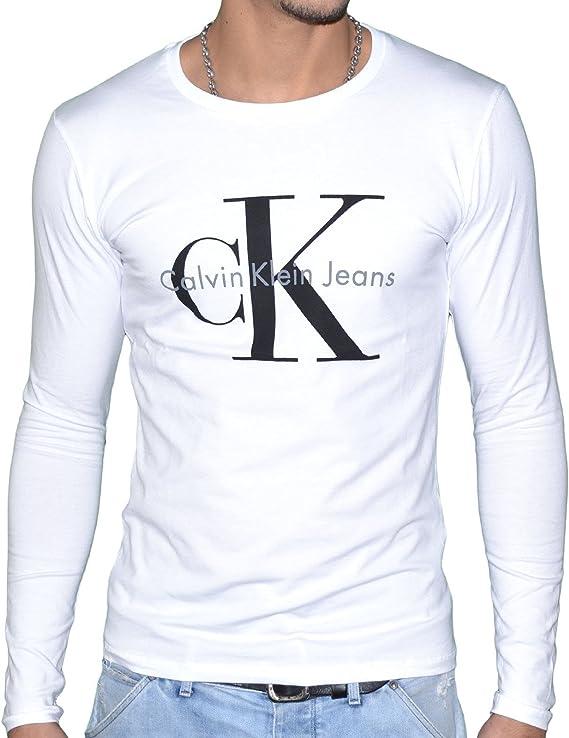 Calvin Klein – Camiseta de manga larga J3IJ302251 blanco XXL: Amazon.es: Ropa y accesorios