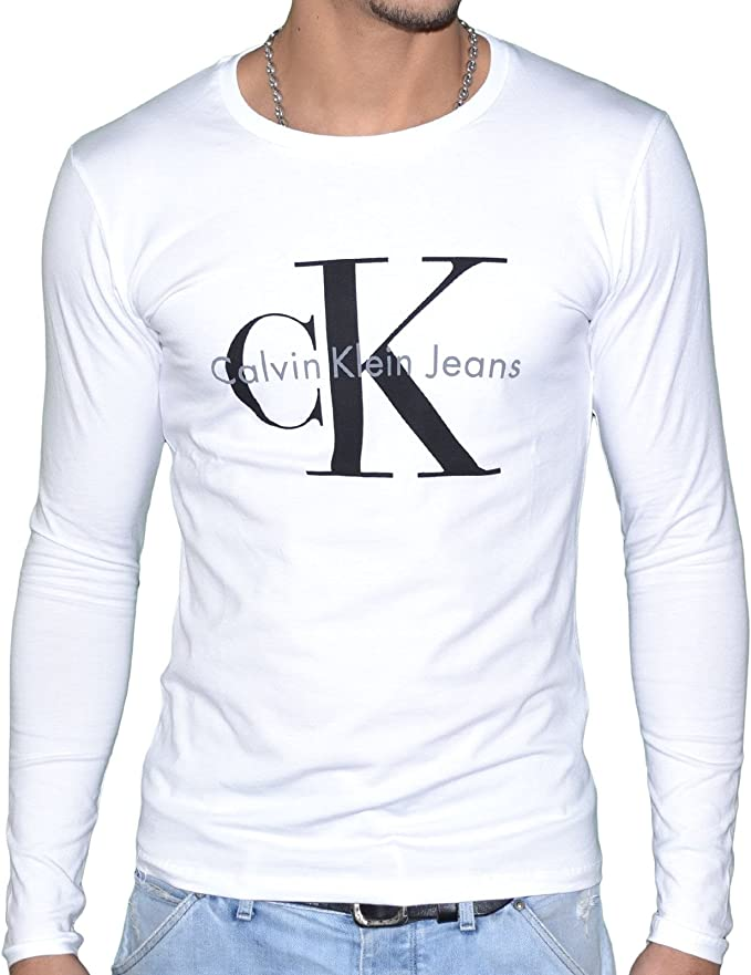 Calvin Klein – Camiseta de Manga Larga J3IJ302251 Blanco XXL ...