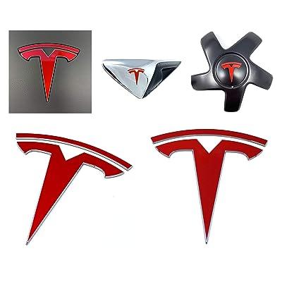 Custom Cut Graphics Tesla Model 3 Logo Decal Wrap (Gloss Red): Automotive [5Bkhe0100519]