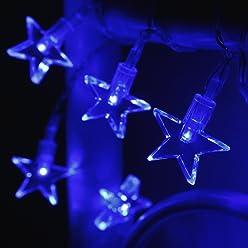3x 10er LED Lichterkette blau Batteriebetrieb Lights4fun