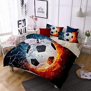 Dxsx Bettwäsche Bettbezug 3d Fußball Muster Drucken Superfeines