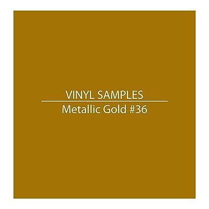 Vinyl Color Samples / METALLIC GOLD #36 / for 1060 Graphics / Vinyl  Lettering, Decals & Racing Stripes (#36 Metallic Gold)