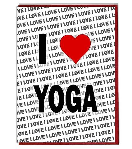 Carte D Anniversaire I Love Yoga Carte D Anniversaire