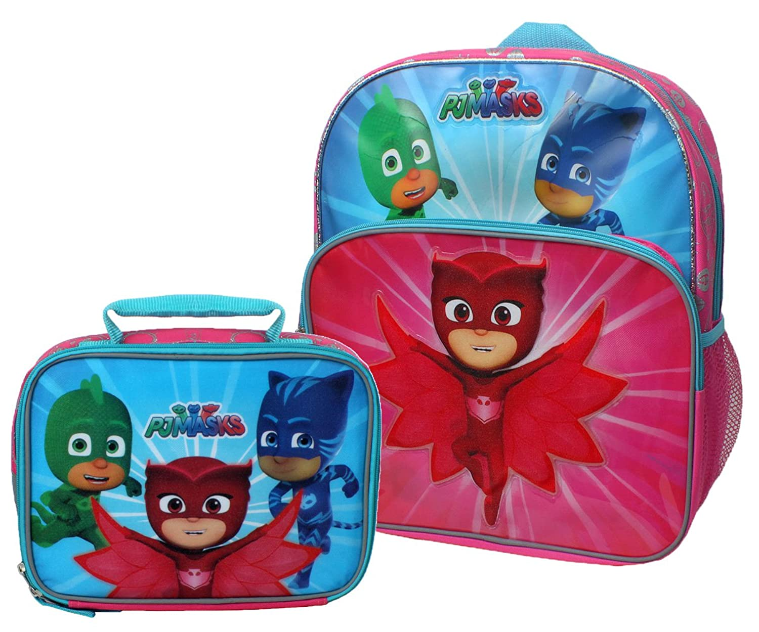 Amazon.com | Disney Junior PJ Masks Save The Day Backpack and Lunch Box Set | Kids Backpacks