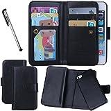 Urvoix For iPhone 5 5S SE, Wallet Leather Flip Card Holder Case, 2 in 1 Detachable Magnetic Back Cover for Apple iPhone 5 5S SE