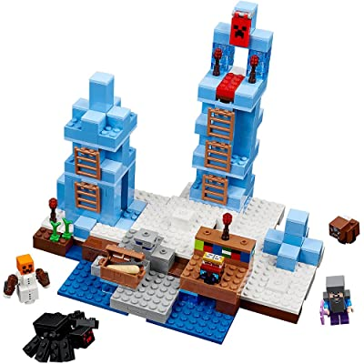 LEGO Minecraft The Ice Spikes 21131: Toys & Games [5Bkhe0300014]