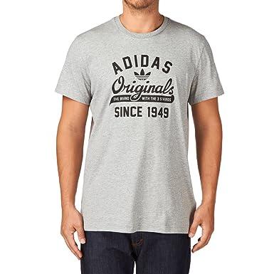 Adidas Originals Hombre Entrenamiento Camiseta, Hombre, Gris, Large: Amazon.es: Deportes y aire libre