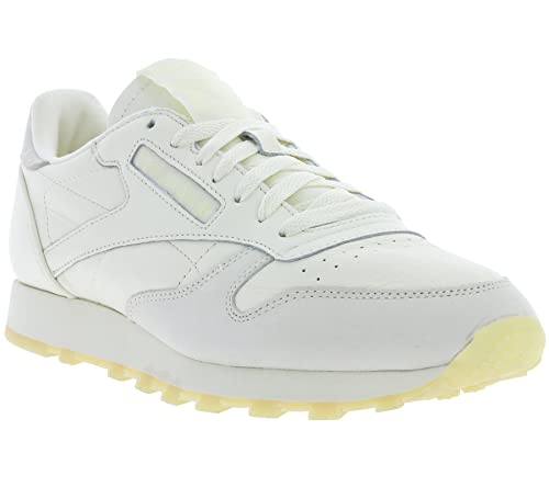 f5fc22f1af81 Reebok Mens Classics Mens Classic Leather Jam Pack Trainers in Cream - UK6.5