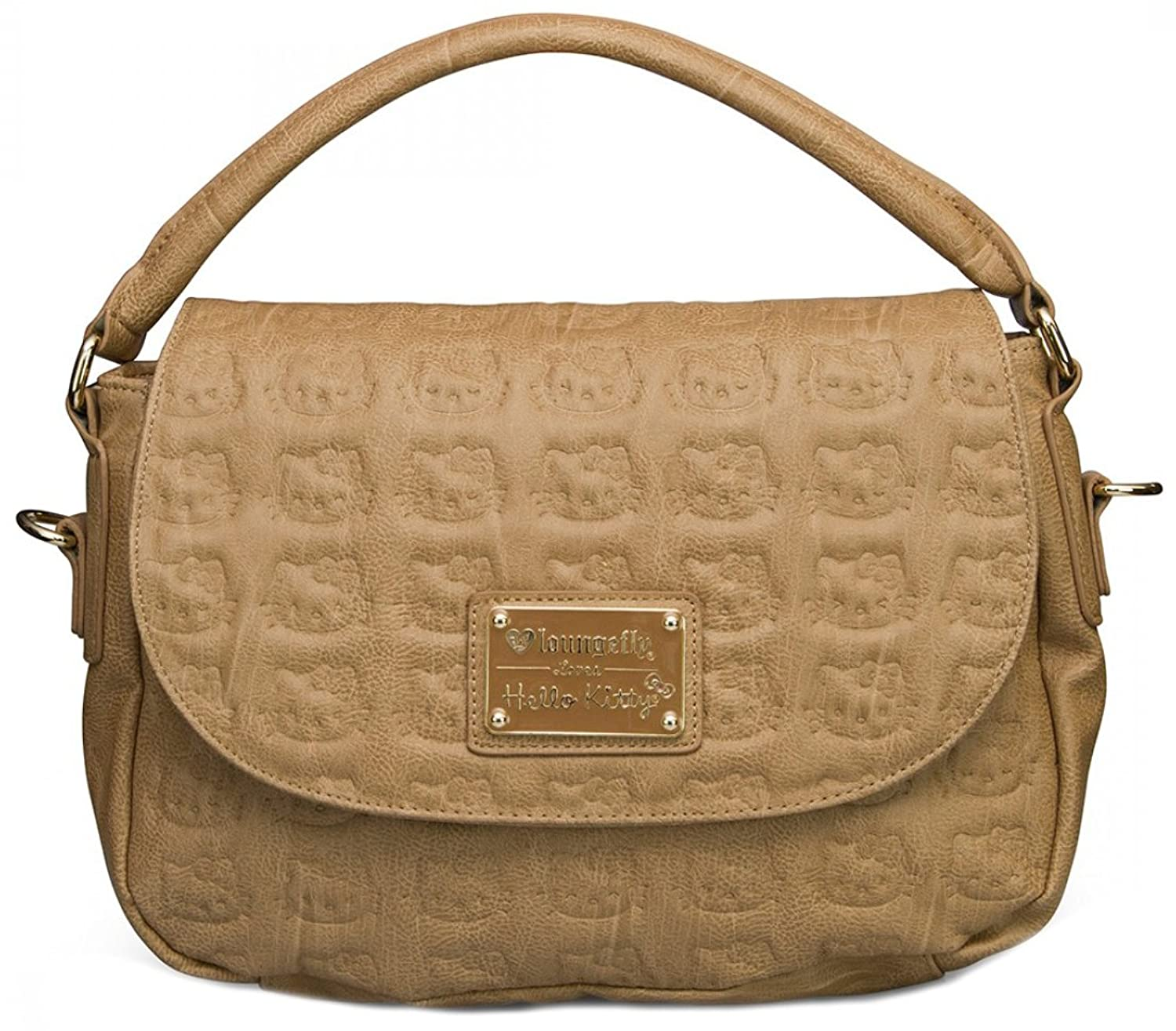 Loungefly Hello Kitty Taupe Embossed Cross Body