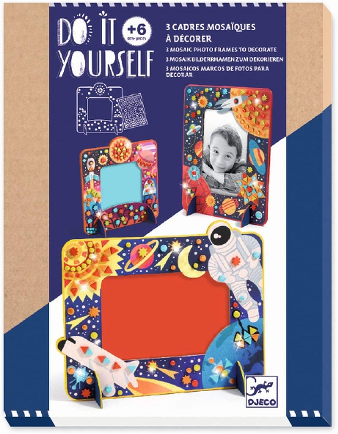 DJECO in Space Mosaic Frames Craft Kit