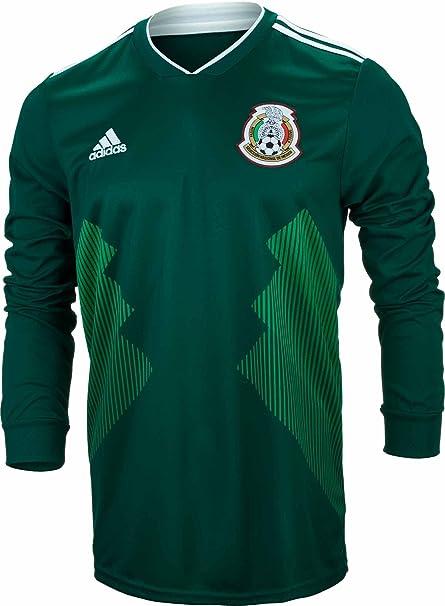 62c2311e33593 Amazon.com   adidas Men s Soccer Mexico Home Long Sleeve Jersey ...